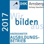 Anerkannter Ausbildungsbetrieb IHK Arnsberg Hellweg-Sauerland